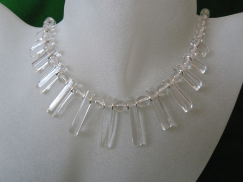 Clear Rock Crystal Quartz Cleopatra Necklace With Sterling Silver